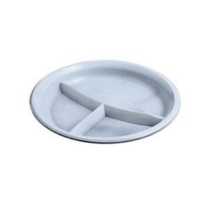 Тарелка пластиковая на 3 отделения